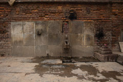 Ancient Water Tap. Its an ancient Water tap found in bhaktapur Nepal Stock Photo