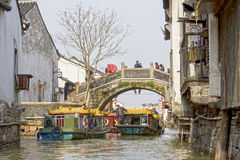 Ancient water town, Suzhou, China Royalty Free Stock Images