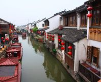 Ancient water towns-shantang suzhou Royalty Free Stock Image