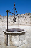 Ancient water well. Ancient water well in Europe royalty free stock images