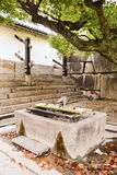 Ancient water wells on the inside of the Oteguchi entrance gate. Ancient water well on the inside of the Oteguchi entrance gate Royalty Free Stock Photography
