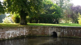 Ancient watering place at le Bec Hellouin. stock footage