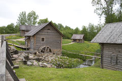 Ancient watermill Royalty Free Stock Images