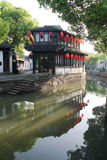 Ancient watery town. In the morning. Tongli. Suzhou. China royalty free stock image