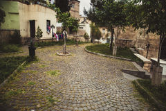 Ancient way in Gaziantep Royalty Free Stock Image