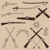 Ancient weapon, Ax, sword, sabers, grenades Royalty Free Stock Images