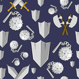 Ancient weapon cartoon background Stock Images