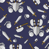 Ancient weapon cartoon background Royalty Free Stock Photos
