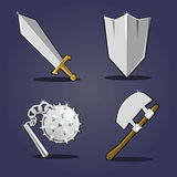 Ancient weapon collection Royalty Free Stock Images