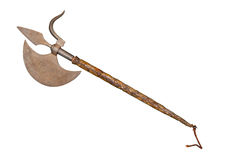 The ancient weapon - a halberd Stock Image