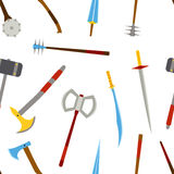 Ancient weapon tool equipment pattern. Melee weapon. Cold weapon. Stock Image