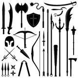 Ancient Weapon Tool Equipment Set Stock Photo