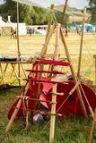 Ancient weapons reproduction for celtic festival in Montelago Italy. Used in battle tournament Stock Photo