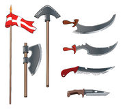 Ancient weapons set Royalty Free Stock Images