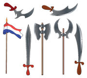 Ancient weapons set Stock Photos
