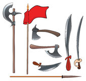 Ancient weapons set Stock Photo