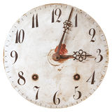 Ancient weathered clock face with cracks Stock Images