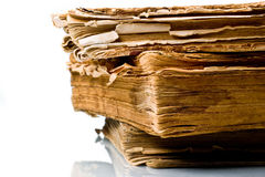 Ancient weathered paper book Stock Photography