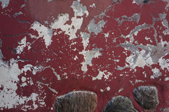 Ancient weathered red wall texture. Stock Photography