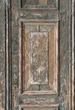 Weathered door fragment. Ancient weathered wooden door fragment from Venice, Italy Royalty Free Stock Photo