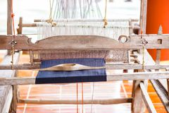 Ancient weaving machines. Handmade and crafts in north thailand royalty free stock photo