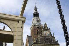 Ancient Weigh house, city Alkmaar, Netherlands Stock Images