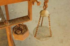 An ancient weighing balance. To measure Stock Photos