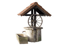 Ancient well. Made of concrete and wood used in Croatia and some parts of Europe stock image