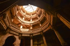 Ancient well in Ahmedabad India, Gujarat. February 2016 royalty free stock photography