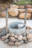 Ancient wells with stone Stock Photos