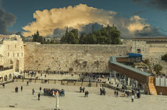 Ancient Western Wall of Temple Mount, Jerusalem Royalty Free Stock Photo
