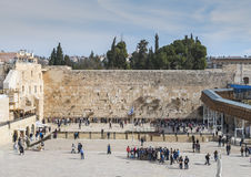 Ancient Western Wall of Temple Mount, Jerusalem Royalty Free Stock Photos