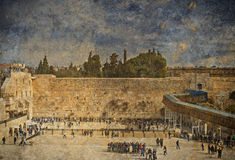 Ancient Western Wall of Temple Mount, Jerusalem Stock Images
