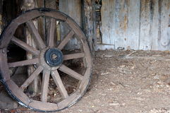 Ancient wheel of wood concept Royalty Free Stock Photo