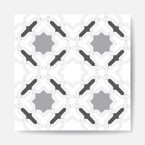 Ancient white-black аrabic seamless pattern. pattern generated in the computer Royalty Free Stock Images
