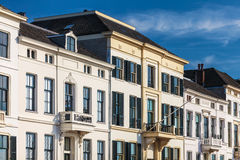 Ancient white houses in the Dutch city of Zutphen Royalty Free Stock Images