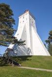 Ancient white lighthouse in Hiiumaa, Estonia Stock Photo