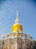 Thai White Pagoda  (wat pra that Nadoon) Royalty Free Stock Photography