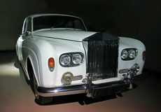 Ancient white rare car Royalty Free Stock Images