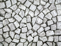 Ancient white stone mosaic Royalty Free Stock Photos