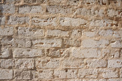 Ancient white stone wall Stock Photo