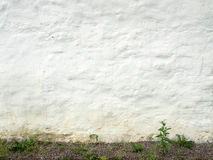 Ancient white wall Stock Photography