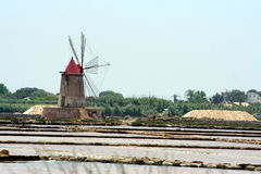 Ancient wind mill Royalty Free Stock Photo