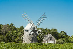 Ancient Windmill, Cape Cod, Massachussetts. Ancient wooden windmill in Cape Cod, Massachusetts, USA, US Royalty Free Stock Photo
