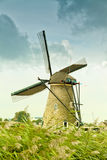 Ancient windmill in Kinderdijk Stock Image