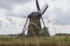 Windmill in Netherlands Stock Photography