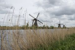 Windmill in Netherlands Royalty Free Stock Photos