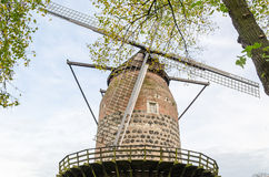 Ancient windmill in Zons am Rhein Stock Photo
