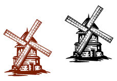 Ancient windmills Royalty Free Stock Image