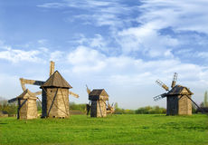 Ancient windmills Royalty Free Stock Photos